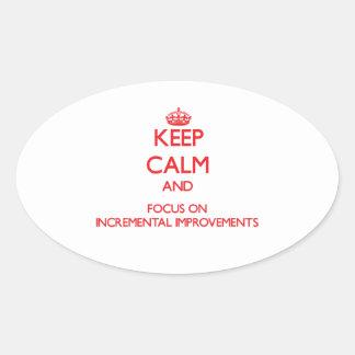 Guarde la calma y el foco en mejoras ampliadas colcomanias óval