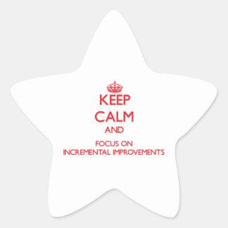 Guarde la calma y el foco en mejoras ampliadas colcomanias forma de estrellaes