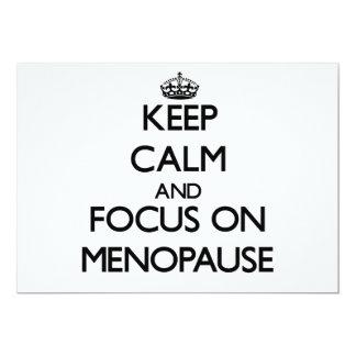 """Guarde la calma y el foco en menopausia invitación 5"""" x 7"""""""