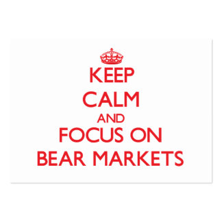 Guarde la calma y el foco en mercados bajistas plantillas de tarjeta de negocio