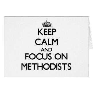 Guarde la calma y el foco en Methodists Tarjeta Pequeña