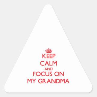 Guarde la calma y el foco en mi abuela