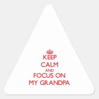 Guarde la calma y el foco en mi abuelo