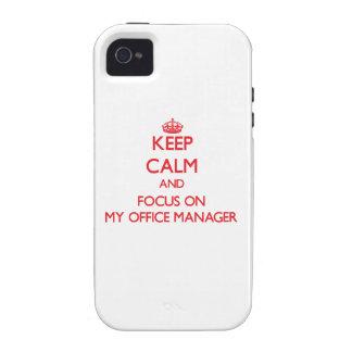 Guarde la calma y el foco en mi administrador de o iPhone 4/4S carcasas