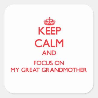 Guarde la calma y el foco en mi bisabuela