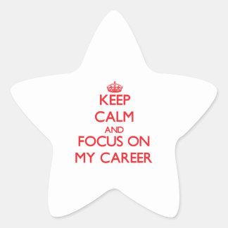 Guarde la calma y el foco en mi carrera