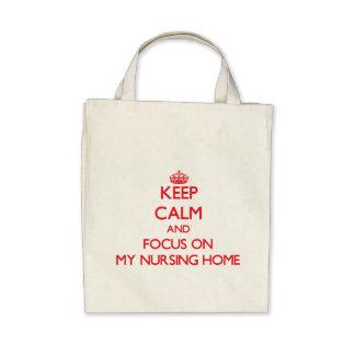 Guarde la calma y el foco en mi clínica de reposo bolsa
