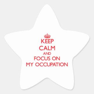 Guarde la calma y el foco en mi empleo