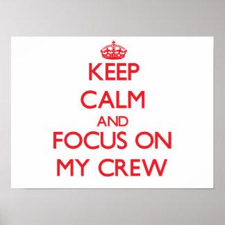 Guarde la calma y el foco en mi equipo