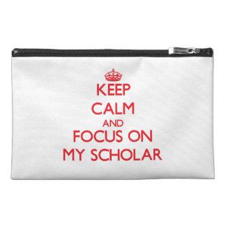 Guarde la calma y el foco en mi escolar