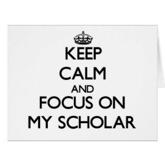 Guarde la calma y el foco en mi escolar tarjeton