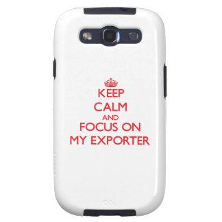 Guarde la calma y el foco en MI EXPORTADOR Galaxy SIII Fundas