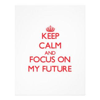 Guarde la calma y el foco en mi futuro flyer a todo color