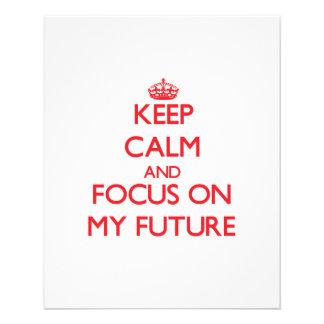 Guarde la calma y el foco en mi futuro tarjetones