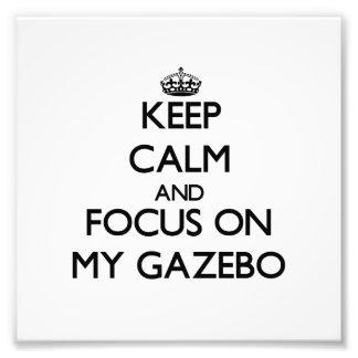 Guarde la calma y el foco en mi Gazebo Impresiones Fotográficas