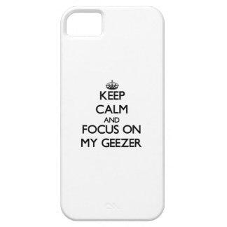 Guarde la calma y el foco en mi Geezer iPhone 5 Case-Mate Cobertura