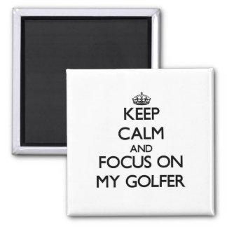 Guarde la calma y el foco en mi golfista