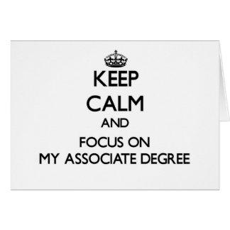 Guarde la calma y el foco en mi grado de socio felicitacion