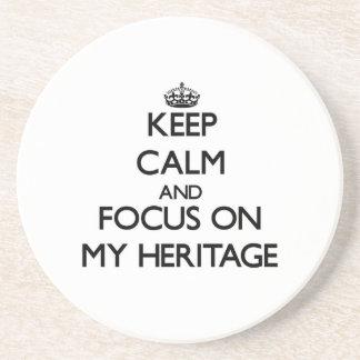 Guarde la calma y el foco en mi herencia