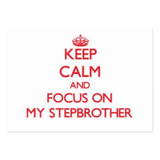 Guarde la calma y el foco en mi hermanastro