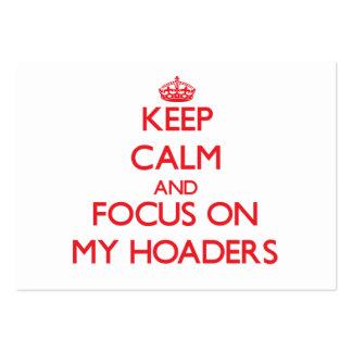 Guarde la calma y el foco en mi Hoaders Tarjeta De Visita