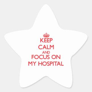 Guarde la calma y el foco en mi hospital