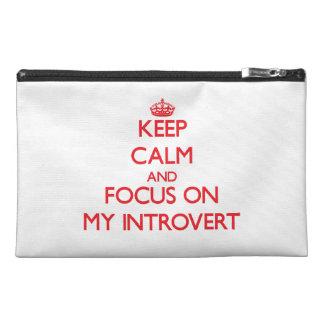 Guarde la calma y el foco en mi introvertido
