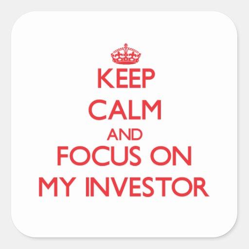 Guarde la calma y el foco en mi inversor colcomanias cuadradass