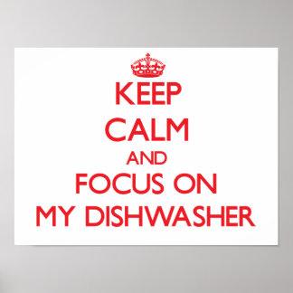 Guarde la calma y el foco en mi lavaplatos