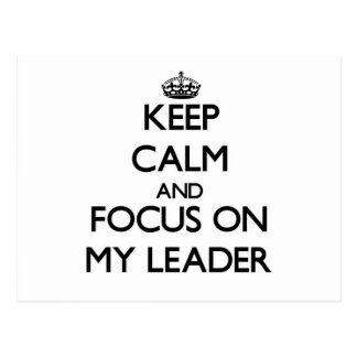 Guarde la calma y el foco en mi líder