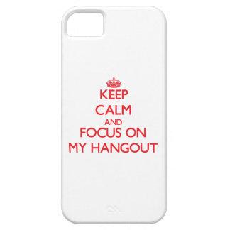 Guarde la calma y el foco en mi lugar frecuentada iPhone 5 cárcasa