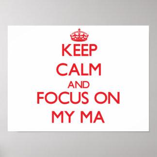 Guarde la calma y el foco en mi mA Posters