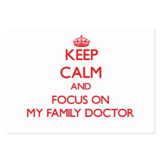 Guarde la calma y el foco en mi médico de cabecera tarjetas de visita grandes