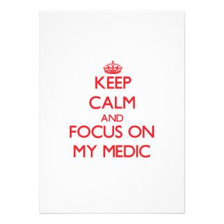 Guarde la calma y el foco en mi médico