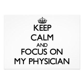 Guarde la calma y el foco en mi médico comunicados personales