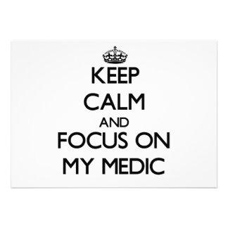 Guarde la calma y el foco en mi médico anuncio