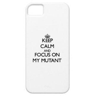 Guarde la calma y el foco en mi mutante iPhone 5 cárcasas