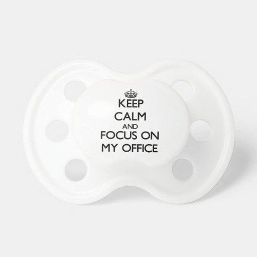 Guarde la calma y el foco en mi oficina chupete