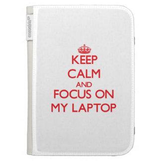 Guarde la calma y el foco en mi ordenador portátil