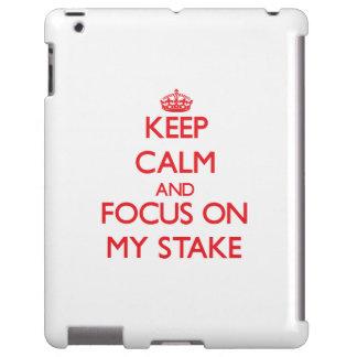 Guarde la calma y el foco en mi participación funda para iPad