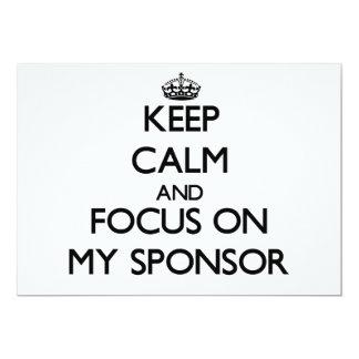 Guarde la calma y el foco en mi patrocinador anuncios personalizados