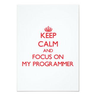 Guarde la calma y el foco en mi programador anuncios personalizados