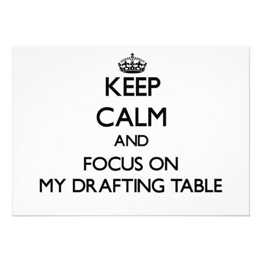 Guarde la calma y el foco en mi tabla de elaboraci