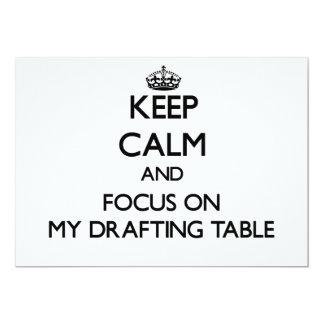"""Guarde la calma y el foco en mi tabla de invitación 5"""" x 7"""""""