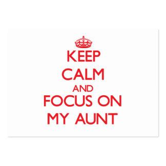 Guarde la calma y el foco en mi tía