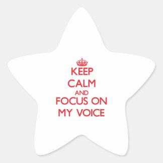 Guarde la calma y el foco en mi voz