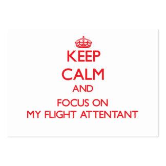 Guarde la calma y el foco en mi vuelo Attentant Tarjeta Personal
