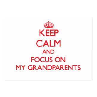 Guarde la calma y el foco en mis abuelos