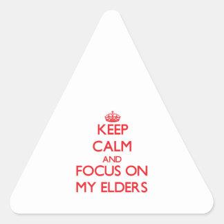 Guarde la calma y el foco en MIS ANCIANOS