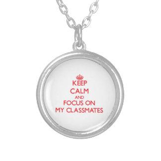Guarde la calma y el foco en mis compan@eros de cl pendientes personalizados
